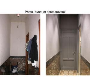 Hall d' entrée Avant Après