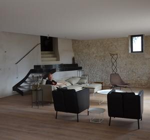 création du concept de l'escalier métallique / espace salon