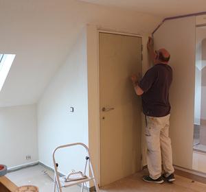 espace chambre en cours de travaux