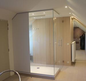 vue de salle de bain / douche XXL(180x90cm)
