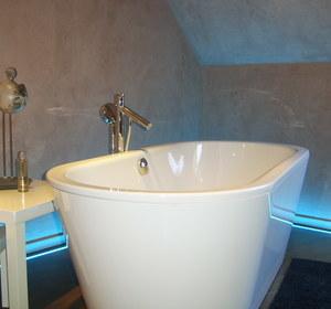 vue baignoire avec led RGB