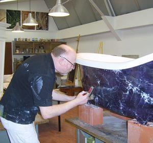 Essentiel Sprl - Baignoire en faux marbre pour aquamass