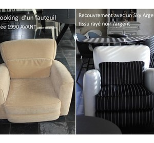 recouvrement d'un fauteuil année 1990